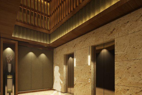 2015091601 新竹縣竹北市中興段 室設【公設3D模擬透視圖一】》電梯廳