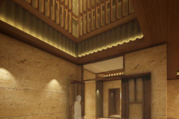 2015091601 新竹縣竹北市中興段 室設【公設3D模擬透視圖一】》C棟電梯廳
