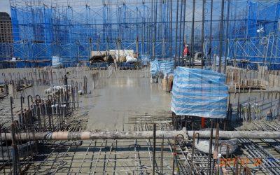 12F板面混凝土澆置