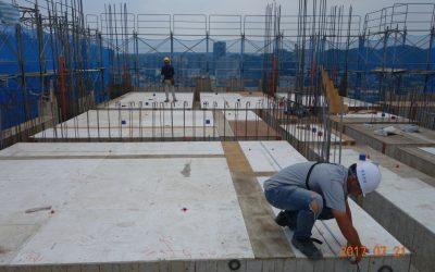 12F頂板板面鋪設
