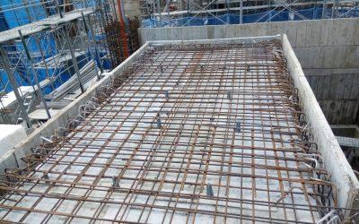 R3F水箱頂板鋼筋綁紮