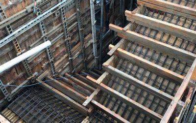 8樓板樓梯鋼筋綁紮完成