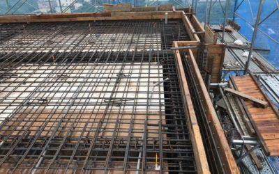 屋頂版及防水墩吊模